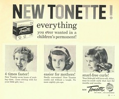 1958-Woman's Day (File Photo Digital Archive) Tags: 1950s 50s 1958 58 advertising vintage womansday portrait people indoor text writing monochrome