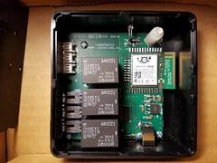 Inside garageio black box (jepoirrier) Tags: iot smartphone garage board electronics garageio