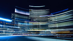Big City Lights (Valley Imagery) Tags: melb melbourne city lights long exposure movement buildings skyscraper night sony a77ii australia victoria