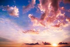 Summer Sky (Captured Heart) Tags: summer summersky clouds pinkclouds sky sunset
