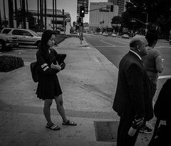 girl in thought (dustin.gebhard) Tags: deadbeatgallery streetphotography blackwhite monochrome ricohgr ricohgrii girl thought union station losangeles dtla