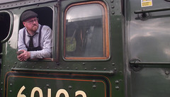 Engine Driver, Flying Scotsman 60103 at Rawtenstall ELR (mrrobertwade (wadey)) Tags: nigel gresley eastlancashirerailway 4472 rossendale robertwade lancashire wadeyphotos