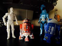 K-3PO, R2-L3, PZ-4CO & R3-M3 (Macroworlder) Tags: star wars hasbro disney rebel pilots xwing hangar bay