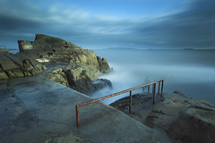 full fathom five (zip po) Tags: fortyfoot dublin swimmer morning tide bay landscape steps rocks longexposure cloud storm ireland