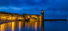 Colliure (kike.dc) Tags: paisajes nocturnas
