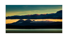 Paps at Sunrise - Explore 15.10.2016 No.14 (muddybootsuk) Tags: paps jura bowmore scotland islay clouds mist muddybootsuk greatbritain unitedkingdom sea sunrise sky mountains hills dawn orange blue whisky scotch dram harbour