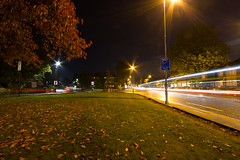 Lea Bridge Road, Grove Road and Shernhall Street. (ArtGordon1) Tags: leabridgeroad groveroad walthamstow london england uk e17 lighttrails night october 2016 davegordon davidgordon daveartgordon davidagordon daveagordon artgordon1