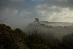 the castle view (stocks photography.) Tags: michaelmarsh photography corfecastle dorset castle thecastleview misty fog harrypotter photographer