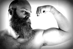 This being Portrait 146 of 156 (=Melvin the Satyr=) Tags: flex muscle beard