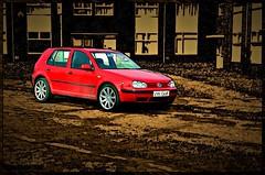 VW Golf (larry_shone) Tags: photomanipulation picsart selectivecolour urban vw golf volkswagen