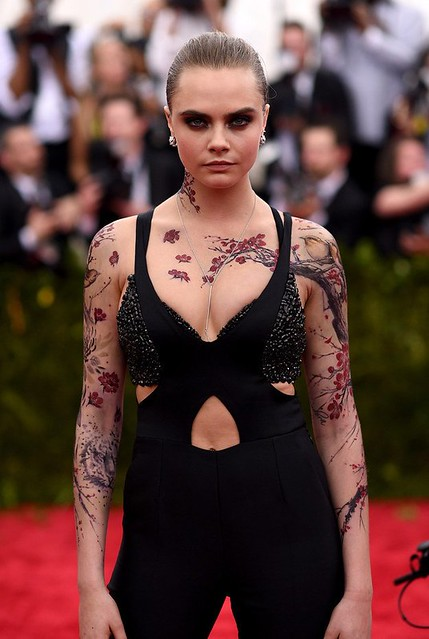 Cara Delevigne's Inked Appearance at The Met Gala