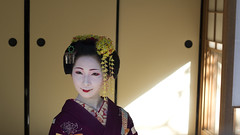 Geisha apprentice (Japanexperterna.se) Tags: portrait woman japan japanese kyoto maiko geiko geisha   kimono  chionin