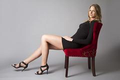Kristen (austinspace) Tags: portrait woman studio washington model amazon spokane dress blond blonde tall athlete alienbees