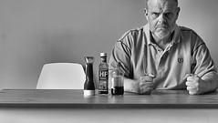 Patience is a virtue (CJS*64) Tags: two bw food monochrome table mono blackwhite nikon sauce eating eat nikkor dslr saucy cjs whiteblack nikkorlens 50mmf18lens twochairs 50mmnikkorlens d3100 nikond3100 craigsunter cjs64