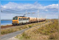 Sunny Sybic (VTZK) Tags: orange france train zug fret narbonne trein beton oranje sncf languedocroussillon güterzug sybic portlanouvelle goederentrein marchandises