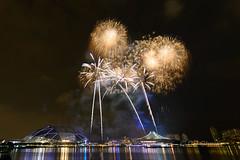 Sports Hub Fireworks 2 (Purple_man) Tags: sea fireworks rehearsal ceremony games opening 2015