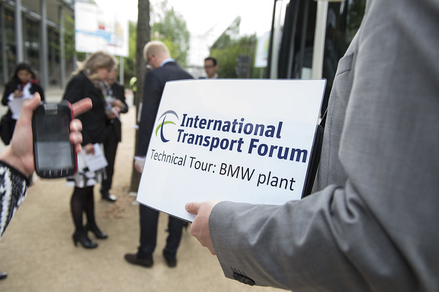 Attendees waiting for the Technical Tour of the BMW plant