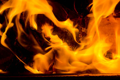 17/115 - Fire on Feb 17 (pbyarnell) Tags: fire flames woodstove 17115