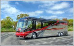 blue sky bus clouds coach rv custom limitededition hdr countrycoach magna630