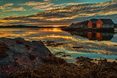 Goodbye summer (Siggi007) Tags: longexposure blue autumn sunset red sea summer sky orange seascape nature water colors beautiful norway clouds reflections landscape evening norge seaside amazing rocks exposure flickr foto outdoor picture norwegen le bilde canoneos60d