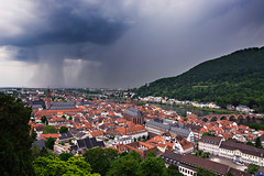 Storm of Spring (JN) Tags: city storm castle rain river germany deutschland spring nikon view thunderstorm heidelberg heavy 1735mmf28d schloss rainfall neckar downpour d700