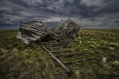 Just Couldn't Stand It Any Longer (Stubble Jumper Photography) Tags: abandoned rain clouds rural decay farm alberta prairie
