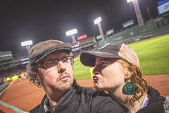 Some Fenway Fun in the Rain (Jonmikel & Kat-YSNP) Tags: rain boston night baseball redsox fenway raining fenwaypark nightgame