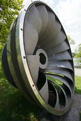 Turbinenlaufrad aus dem Pumpspeicher-Kraftwerk Bleiloch (steffenz) Tags: germany bayern deutschland lenstagged sony 12mm walimex 2016 nex samyang steffenzahn nex6 samyang12mm walimex12mm walimexpro12mm120ncscse