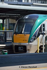 22008 at Heuston, 16/5/16 (hurricanemk1c) Tags: dublin irish train rail railway trains railways irishrail rok rotem heuston 2016 icr newskirt iarnrd 22000 22008 ireann iarnrdireann newfront 3pce