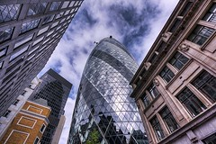 The Gherkin aka 30 St Mary Axe - London Urban Landscape Photography (Nicholas Goodden) Tags: city urban money london buildings reflections landscape photography cityscape view famous landmarks dramatic bank business iconic financial gherkin 30stmaryaxe londoncity thegherkin touristic urbanphotography