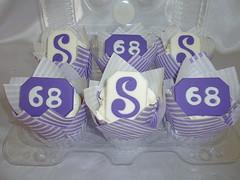 Purple & White Birthday Cupcakes (Custom Cakes By Liz) Tags: cupcakes birthday purple white