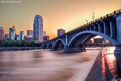 Minneapolis, MN (alhasanalajmi) Tags: city longexposure bridge usa blur minnesota river downtown minneapolis mississippiriver isa hdr