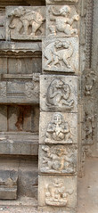 Various panels depiciting Animals and Humans (VinayakH) Tags: halasurusomeshwaratemple bangalore india ulsoor chola vijayanagaraempire kempegowda hindu shiva temple hinduism