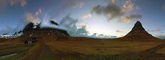 as evening settles over Kirkjufell (lunaryuna) Tags: sunset sky panorama clouds season landscape iceland spring solitude sundown lunaryuna cloudscape mountainrange snaefellsnespeninsula westiceland seasonalchange lightmood kirkjufellmountain