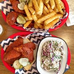 Dinner at Belles Hot Chicken in Windsor (ultrakml) Tags: belles food chicken coleslaw bread fried dinner windsor melbourne victoria australia