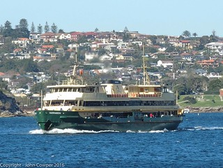 Manly Ferry - MV Narrabeen off Watson's Bay on the way to Manly