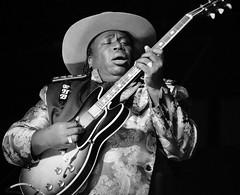 "Eugene ""Hideaway"" Bridges at Blues Blast Music Awards 2016 (forestforthetress) Tags: blues bluesmusic man music musician guitar singer song omot nikon bw blackandwhite stage concert festival livemusic eugenehideawaybridges bluesblast"