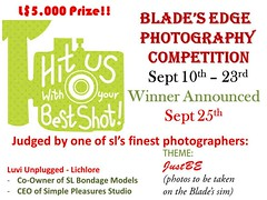 Blade's Edge Photography Competition Theme: JustBE - Sept 2016 (Blade's Edge BDSM) Tags: bladesedge be justbe secondlife bdsm photography photographycompetition luviunplugged aluramccann neafarspire siobbansmythe community discussions ds adult