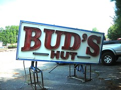 this BUD'S for YOU (bike-R) Tags: superhighway ad neon restaurants food antique