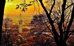 Campanile (giannipiras555) Tags: brescia tramonto campanile cupola tetti albero panorama leica