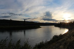 Yukon River Sunset (demeeschter) Tags: canada yukon territory klondike highway lake mountain scenery landscape nature wildlife fire forest river minto resort bald eagle sunset