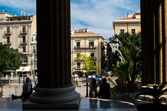 DSC_078 (Mjooolka) Tags: palermo sicily italy city architecture landscape theater massimo buildings column people september autumn sky clouds cloudy colorful lights windows cityscape water fountain flags darkness shadows morning wanderlust art statue dome south southernitaly