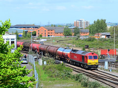 60017 with 6B13. (curly42) Tags: railway tug freight dbs levelcrossing murco class60 60017 6b13 hortonroadcrossing