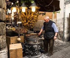 Rome - Chestnuts (heikodreher) Tags: street old man rome roma corner olympus chestnut rom omd em1