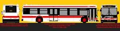 New Flyer D40LF_7336 Rebuild (daviddandie903) Tags: toronto bus publictransit ttc torontotransitcommission busdrawings transitdrawings