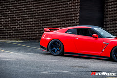 """RAYS TE37 Ultra Mag Blue - Nissan GTR R35 • <a style=""""font-size:0.8em;"""" href=""""http://www.flickr.com/photos/64399356@N08/17676917839/"""" target=""""_blank"""">View on Flickr</a>"""