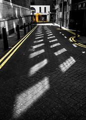 yellow lines (Nigel_G) Tags: color london lines yellow selectivecolour epl7