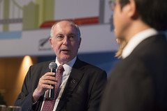 Warren Truss speaking on the growing demand for air travel