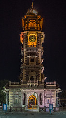 Jodhpur Clock Tower | Rajasthan (Hadi Zaher) Tags: city travel light india tower clock night photography shot market structure rajasthan jodhpur incredibleindia
