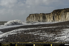 Rough Seas at Newhaven (andrewtijou) Tags: uk england storm sussex europe waves unitedkingdom harbour gale newhaven crashingwaves roughseas harbourwall andrewtijounikond7000